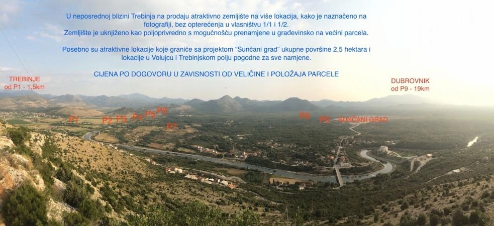 prodaja, zemljište, Trebinje, Gomiljani