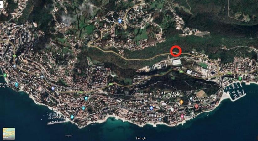 prodaja, zemljište, Crna Gora, Herzeg Novi, Meljine, građevinsko zemljište